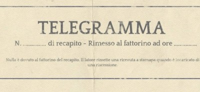 telegramma di condoglianze