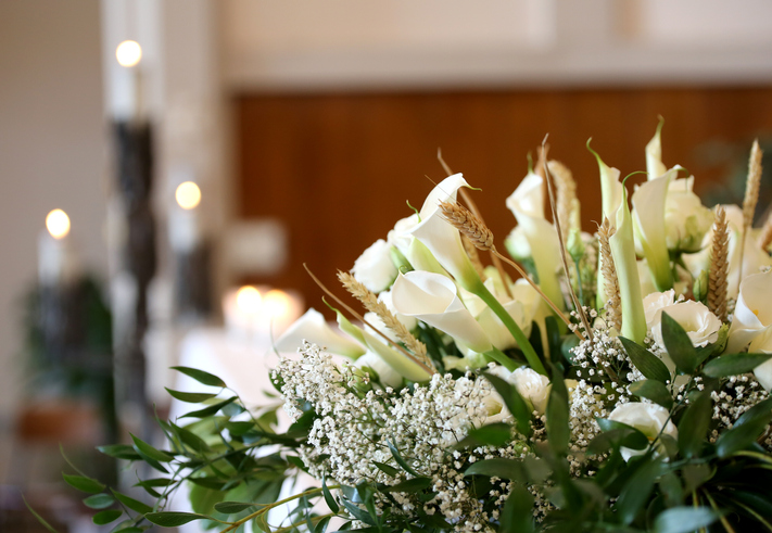 Fiori per funerale uomo